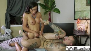 Lovely tan skinned Asian TS Venus Lux sucked and fucked Ruckus tight hole