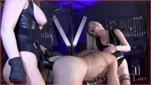 Mistress T - double monster cock ass to mouth
