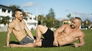 SeanCody - Buff Ayden And Brock Sweat It Out At The Park