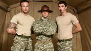 Men - Drill The Sergeant's Ass And Mouth Aspen , Damien Kyle , Tanner Tatum