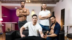 Men - Hat Trick Part 3 Cum Flowing Andy Star , Ely Chaim , Lucas Fox , Paddy O'Brian