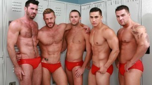 Men - Gaywatch Part 4 Group Sex Landon Conrad , Mike De Marko , Topher Di Maggio And Other