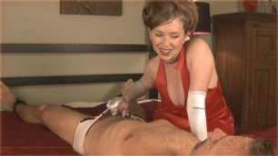 Mistress T - stepmom jerks you out of will