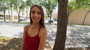 WaitressPOV Skinny young Italian waitress Natalia Nix Tasting Italiana