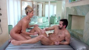 Nurumassage India Summer Moms Nuru Secret Shaved Pussy Gets Fucked
