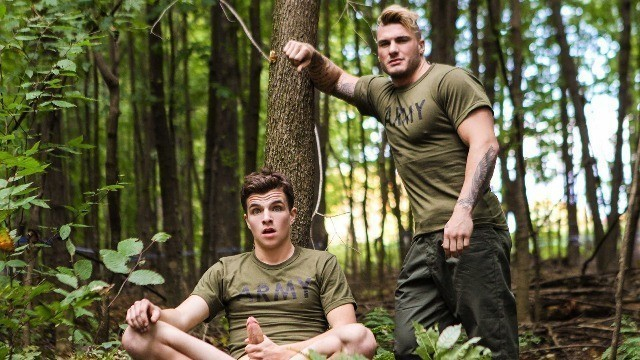 Men - Battle Buddies Part 4 Private Spot But Alex Fortin , Bellamy Bradley , Morgan Blake , William Seed