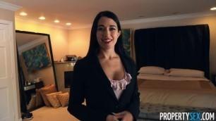 PropertySex Seductive Brunette Alex Coal Rocket Scientist Buys House