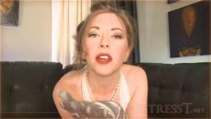 Mistress T - satin glove seduction