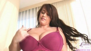 Leanne Crow - Bra Try Outs - Red Bra sexy hot girl 1