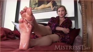 Mistress T - humiliated at my feet