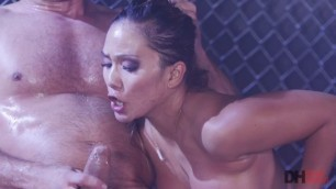 Lana Violet cock deep down her throat Sexy squirting Asian sub Lana Violet gets dominated DeviantHardcore