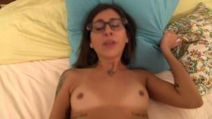 Kacie Castle Brunette in glasses gets fucked SexPOV