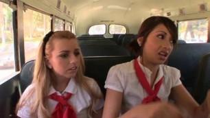 Lexi Belle - Bus Stop Girls Scene 1. Coco Velvett, LB, Daniel Hunter