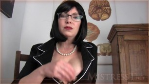 Mistress T - premature ejaculation therapy session 1