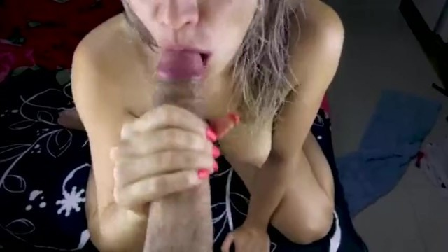 MESSY BLOWJOB AND SWALLOW POV