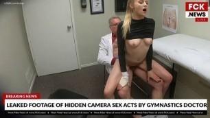 BangFakeNews Nice Girl Paris White Cutie Gymnast That Gets An Internal Exam From Her Doc!