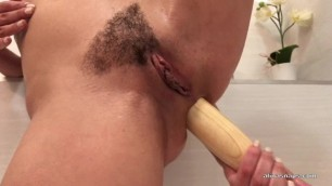 Fucking my Ass with the Bat