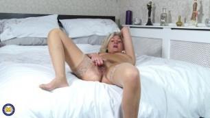 Ellen B. hairy mature British MILF solo