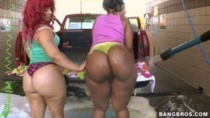 Cherokee D'Ass and Pinky These two beautiful asses go pound for pound fucking and sucking