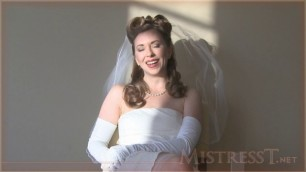 Mistress T - cuckolded on your wedding day