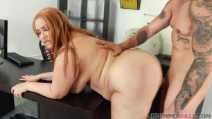 Risa Chacon Big red-haired woman Plumperpass