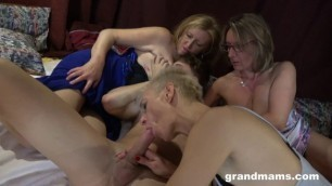 GrandMams [Horny Cougars] Two experienced women are taught to fuck