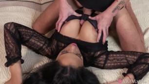 Mom XXX Dom Ully Katrina Moreno Lad cums on kinky Hot MILFs big titse