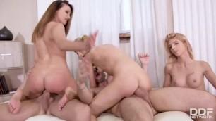 DDFNetwork HandsOnHardcore - Missy Luv, Alyssia Kent, Rebecca Volpetti Orgy At School Hardcore porn orgy