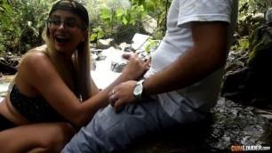 CumLouder Colombian babe Amaranta Hank Fuck me a river