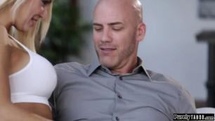 Busty stepdaughter seducing her stepdad