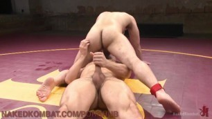 Wrestling Loser Gets A Face Full Of Foot
