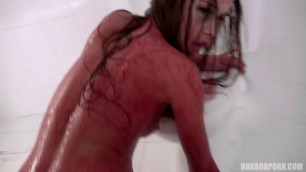 horrorporn blood fairy girl in blood sucks cock and gets fucked