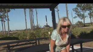 Naughty Alysha - pissing in park porn video