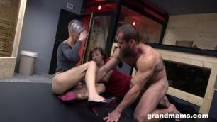 Danny aka Lotti Blue & Nicole Mandorla granny 3some