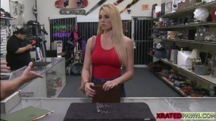 Booty blonde babe Skyla Novea hardcore sex in the office