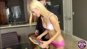 Skinny teen Uma Jolie gets her tight Pussy slammed hard